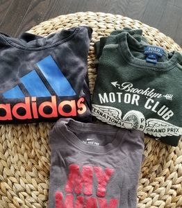 4/$30 Boys size 5 hoodie and  shirts